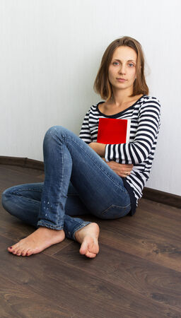 Beautiful girl reading a book photo
