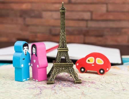 Couple in love in Paris photo