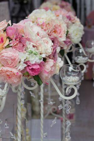 biege: Restaurant ready for wedding reception