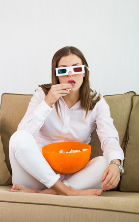 mujer bonita: Viendo la pel�cula Mujer bonita en gafas 3D