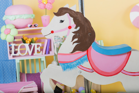 horse love horse kiss animal love: Spring time cute and bright decor
