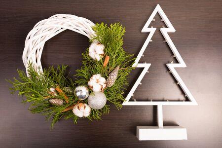 decore: Stylish Christmas home decore Stock Photo