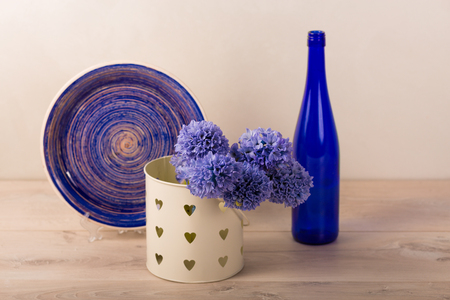 Lovely home decor with a fresh flowers