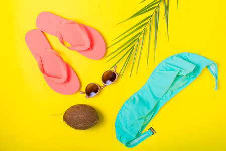 swimm: Summer essentials on a colorful solid colour background