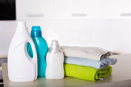 Freshly washed laundry with detegrent and fabric softner