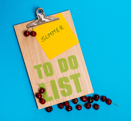 Summer to do list planner on a yellow background