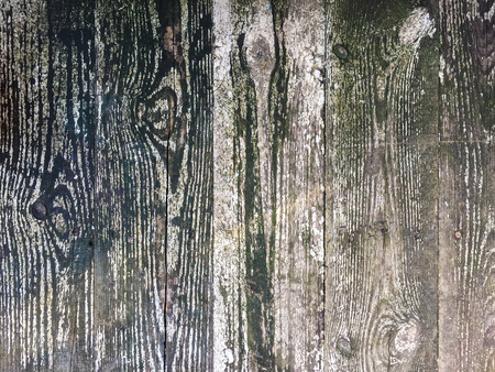 Wooden background with chipped paint. High angle view