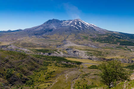 Beautiful vistas at Mt. St. Helens national volcanic monument Stockfoto