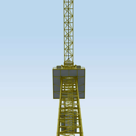 3D View Crane with sky photo
