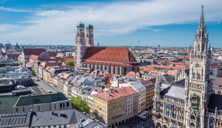 City panorama of Munich 写真素材