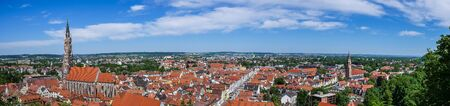 Skyline from Landshut in Germany