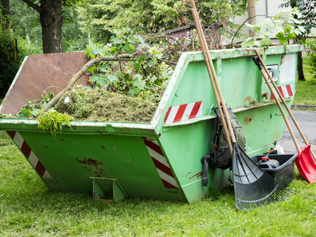 Container with garden waste
