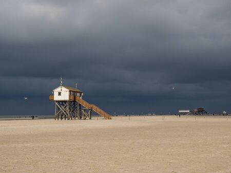 thunderclouds on the beach