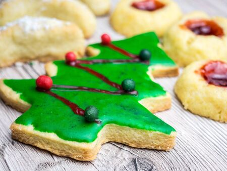 Christmas Biscuits Christmas Tree 스톡 콘텐츠