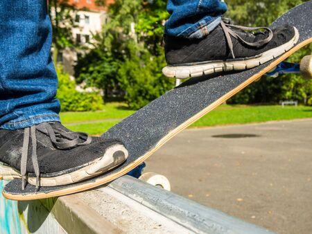 Skater on a ramp