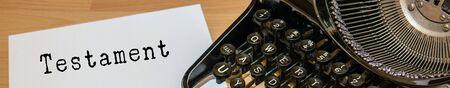 Panorama Testament typewriter Reklamní fotografie