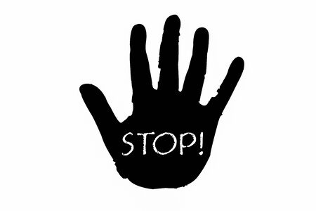 Hand Stop Sign