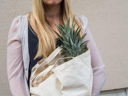 environmentally conscious woman 写真素材 - 130063538