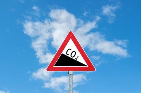 Co2 Warning sign Stock Photo