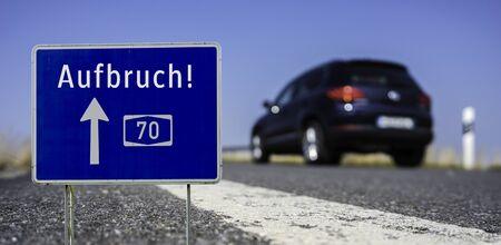 Highway sign break!