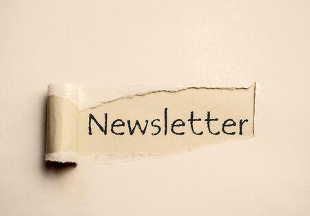 Newsletter Paper Sign