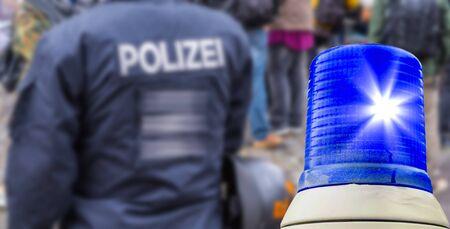 police operation Germany Reklamní fotografie