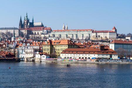 Vue de la cathédrale de Prague Banque d'images