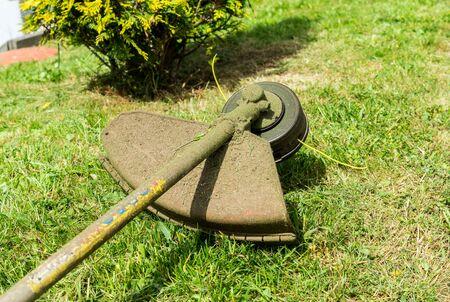 brushcutter meadow tool Banco de Imagens
