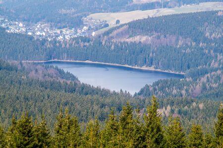 Sosa Dam in Germany Banco de Imagens