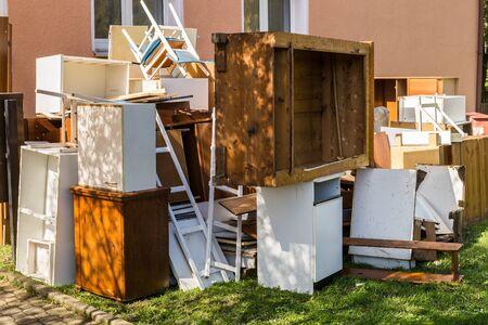Eliminación de residuos voluminosos Foto de archivo