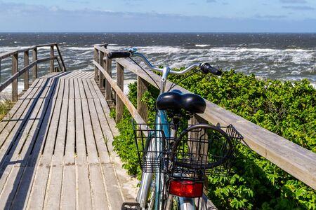 Sylt bike on a boardwalk