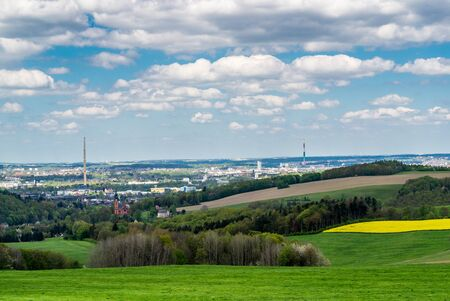 View of Chemnitz in Saxony
