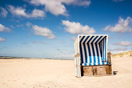 beach chair sandy beach Sylt Stock fotó