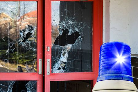 Blue light burglary door