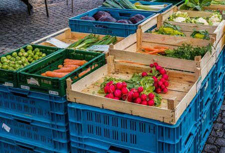 Vegetable market weekly market