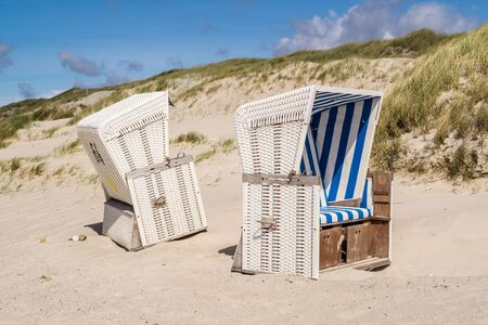 Beach chairs on the island of Sylt in Germany