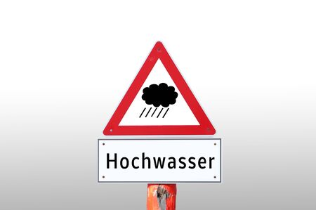 Warning sign high water