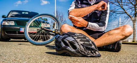 Blessure accident de vélo