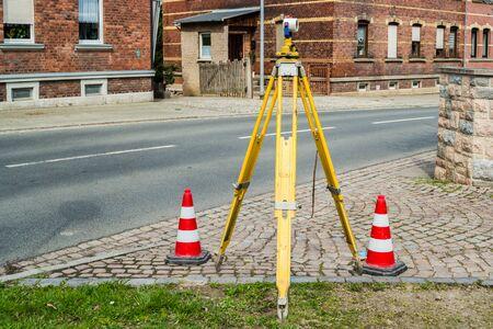 Road surveying geo Archivio Fotografico - 130130341