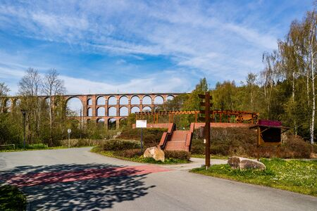 Panorama Göltzschtal bridge in the Vogtland region Stock Photo