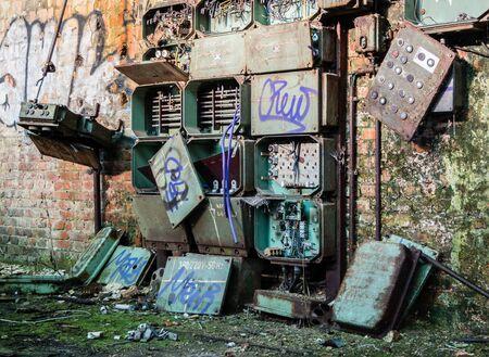 GDR fuse box factory Stok Fotoğraf - 130130293