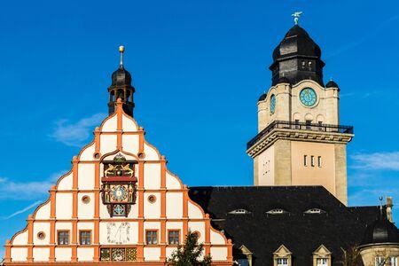 Plauen City Hall Saxony Stockfoto - 130130262