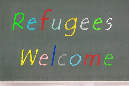 Refugees Welcome Germany Фото со стока - 130206251