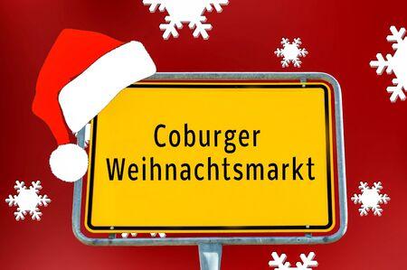Ortstafel Coburger Weihnachtsmarkt