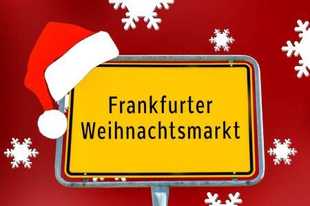 Ortstafel Frankfurter Weihnachtsmarkt
