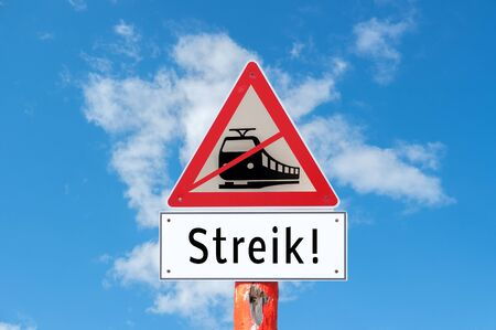 Attention railway strike Фото со стока