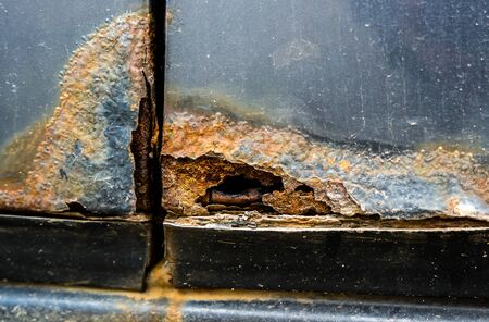 Car rusting through
