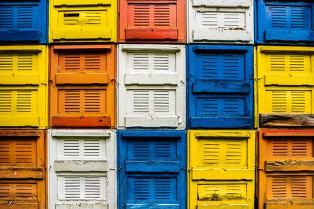 Colored windows bee cart