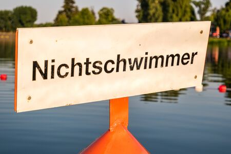 Sign for non-swimmers