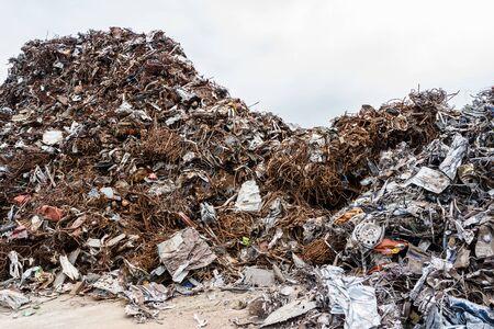 Junkyard metal scrap material yard